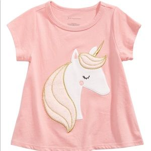 Baby Girls Unicorn 🦄 Print Cotton T-Shirt